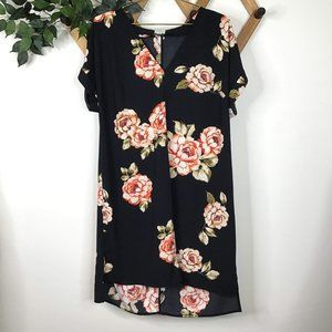 A New Day Peony Floral Button Back Shift Dress